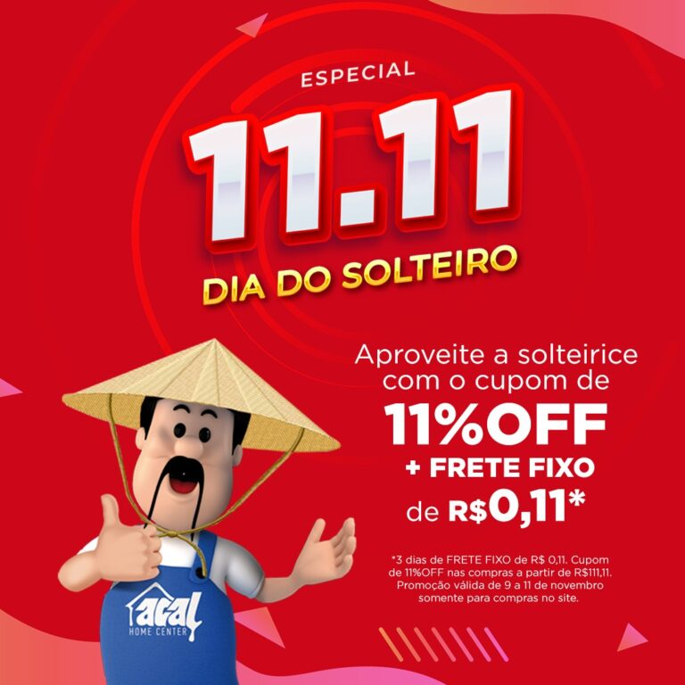 Dia do Solteiro: Acal lança promoção especial para o Dia do Solteiro (11/11)